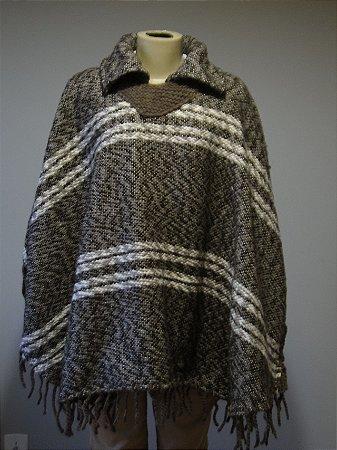 Poncho de Lã Artesanal (G)
