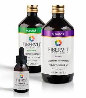 Kit Fibervit Nutrahair- Shampoo, condicionador e serum