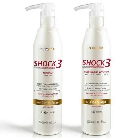Kit Shock 3- Shampoo e Regenerador