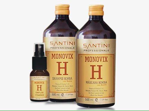 Kit Monovix H Santini- Shampoo, máscara e serum