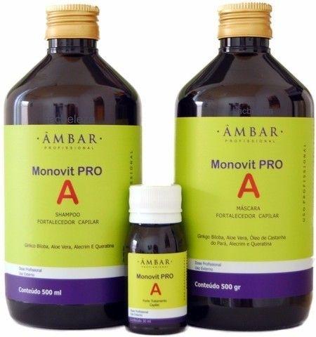 Kit Monovit Pro A- Shampoo, máscara e tônico