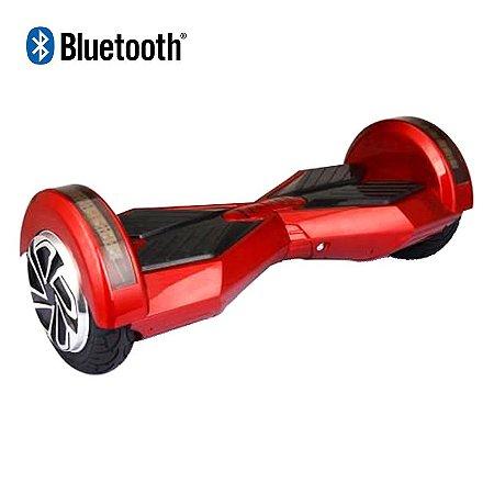 Hoverboard Skate Elétrico Smart Balance Wheel com Bluetooth 8 polegadas - Vermelho