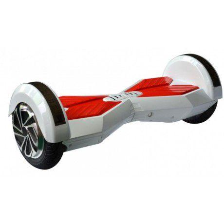 Hoverboard Skate Elétrico Smart Balance Wheel com Bluetooth 8 polegadas - Branco com Vermelho