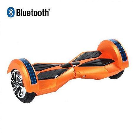Hoverboard Skate Elétrico Smart Balance Wheel com Bluetooth 8 polegadas - Laranja Com Preto