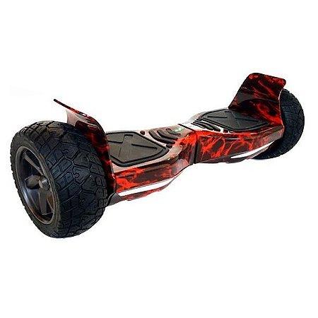 Hoverboard Off-Road com Bluetooth 8,5 polegadas - Vermelho Fogo