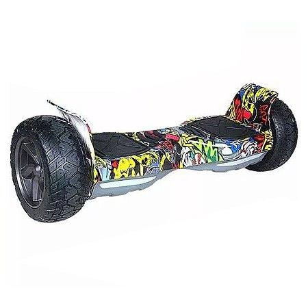 Hoverboard Off-Road com Bluetooth 8,5 polegadas - Amarelo Colorido