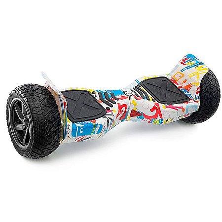 Hoverboard Off-Road com Bluetooth 8,5 polegadas - Branco Colorido