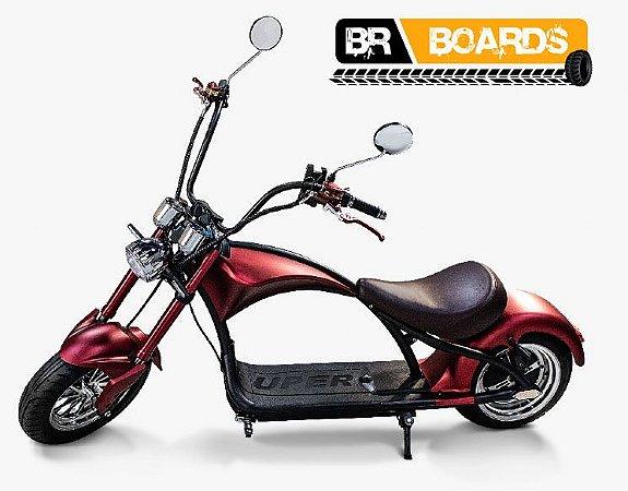 Moto Elétrica Scooter BR Boards Chooper - Vermelha