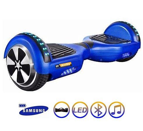 Hoverboard Skate Elétrico Smart Balance Wheel 6,5 Polegadas com Bluetooth - Azul