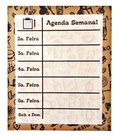 Imã agenda semanal café