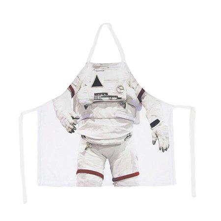 Avental infantil corpo astronauta