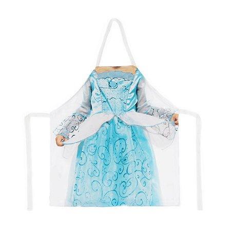 Avental infantil corpo princesa