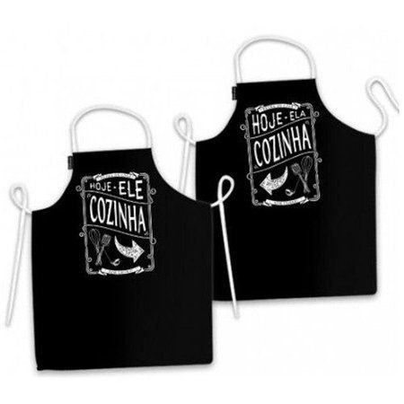 Conjunto de avental quem cozinha