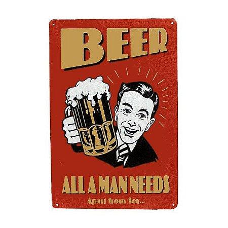 Placa de metal beer