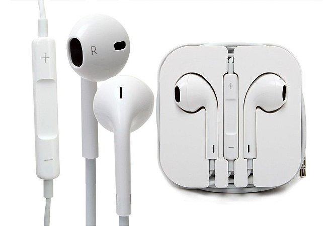 Fone de ouvido EarPods Apple in Ear de 3,5 mm branco