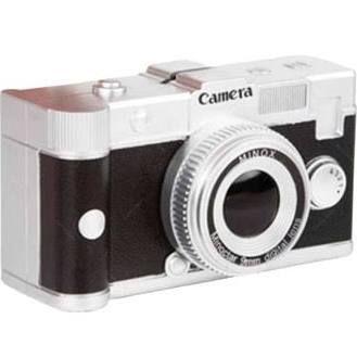 Cofre câmera preta retrô