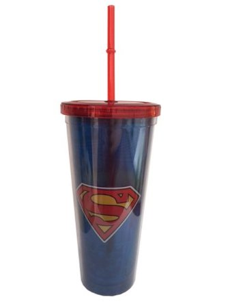 Copo canudo Superman