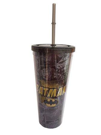 Copo canudo Batman