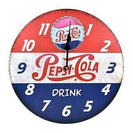 Relógio de parede Pepsi cola