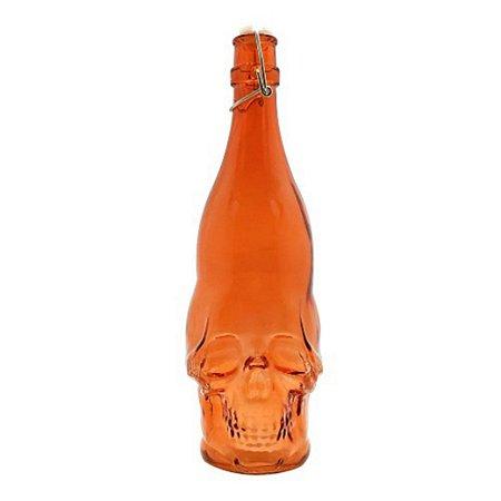 Garrafa caveira laranja