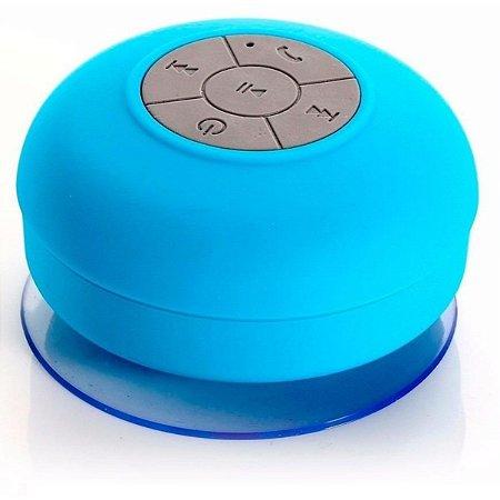 Mini caixa de som a prova d'água azul