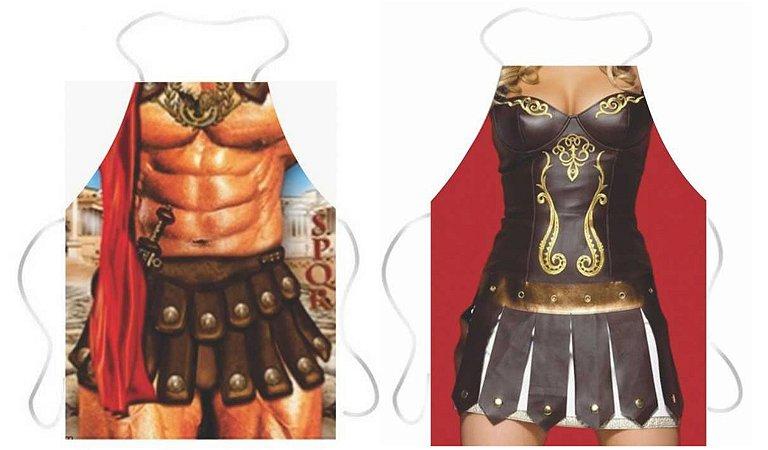 Avental gladiador e gladiadora