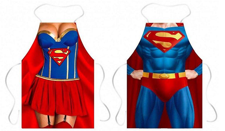 Avental supermulher e super-homem