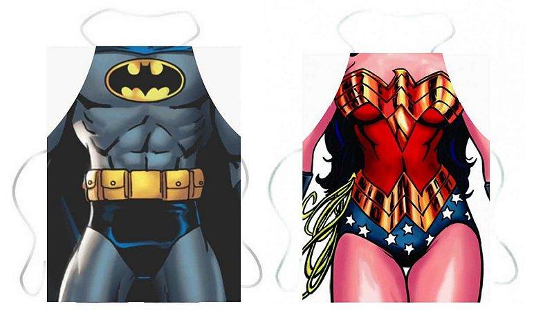 Avental Batman e Mulher Maravilha