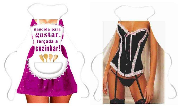 Avental nascida para gastar e corset com renda