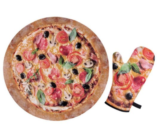 Luva de Cozinha Pizza e Porta Panela Pizza