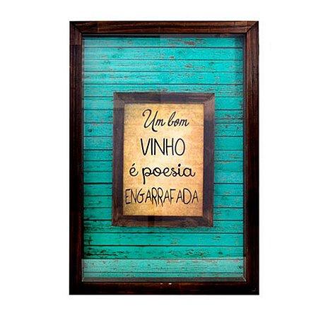 Quadro porta rolhas um bom vinho