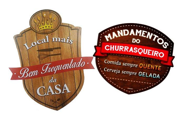 Placas lugar mais frequentado e mandamentos da cerveja