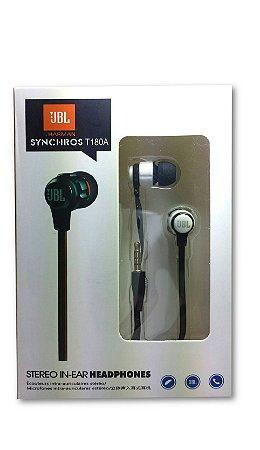 Fone de ouvido JBL T180A - preto
