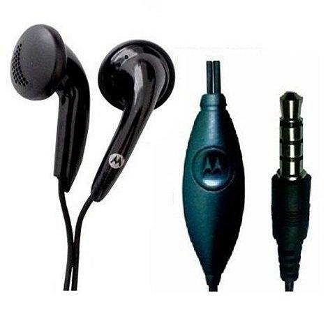 Fone de ouvido Motorola preto