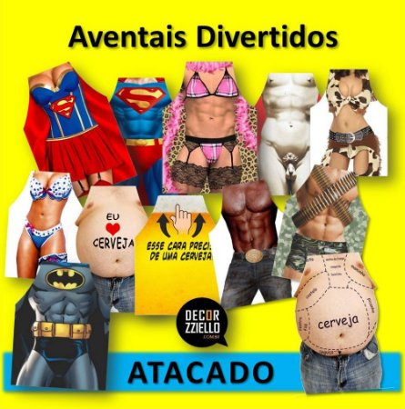 ATACADO - Aventais Divertidos
