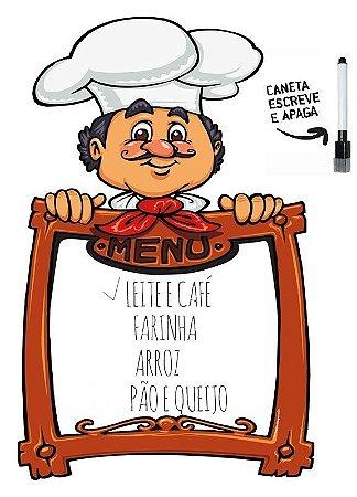 Lousa magnética chef menu