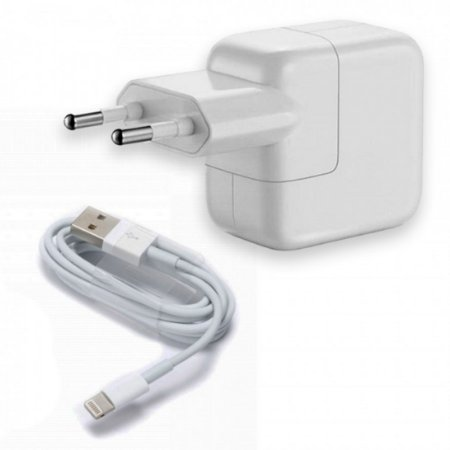 Fonte carregador tomada USB 10W iPhone iPad + cabo lightning