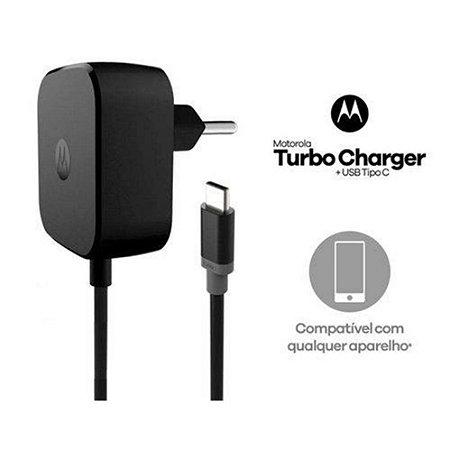 Carregador Motorola Turbo Power USB 30W –Saída Tipo C- ultra rápido