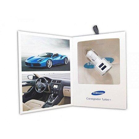 Carregador turbo veicular dual fast Samsung Branco
