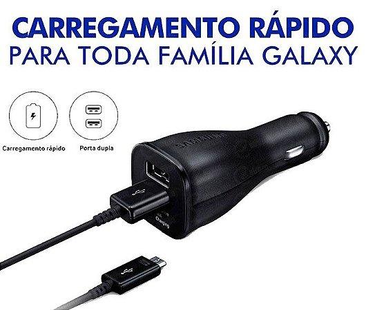 Carregador veicular Dual Samsung Fast Turbo Power 30W