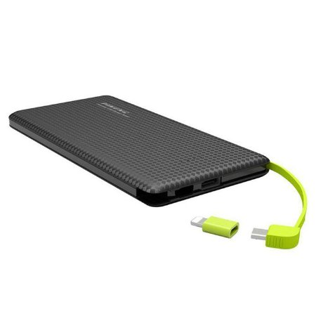 Carregador portátil power bank pineng 5000mah Slim preto - Pn952
