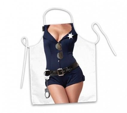 Avental corpo mulher policial