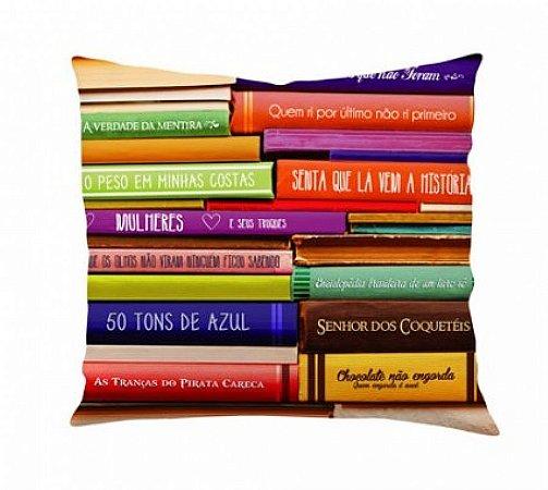 Almofada livros