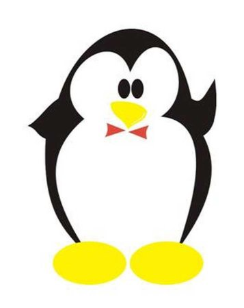 Imã de geladeira pinguinzinho