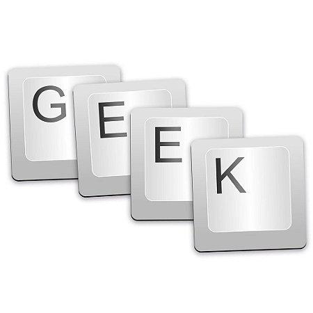 Porta copos tecla geek