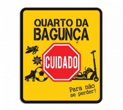 Placa decorativa quarto da bagunça