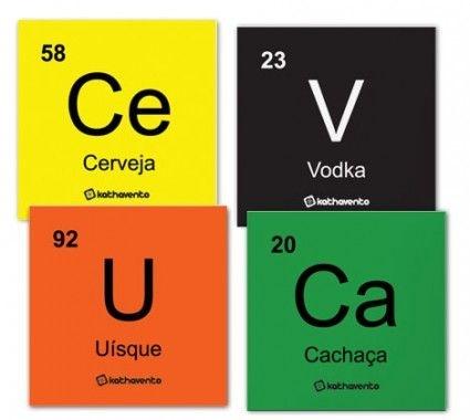 Porta copos tabela periódica