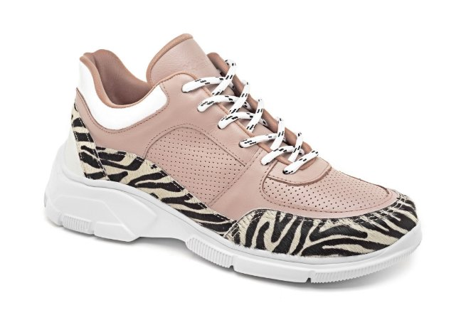 C27001 - Chunky Sneaker Marina Mello - Rosê | Pelo Mini Zebra
