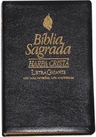 Bíblia com Harpa - Letra Gigante - Preta