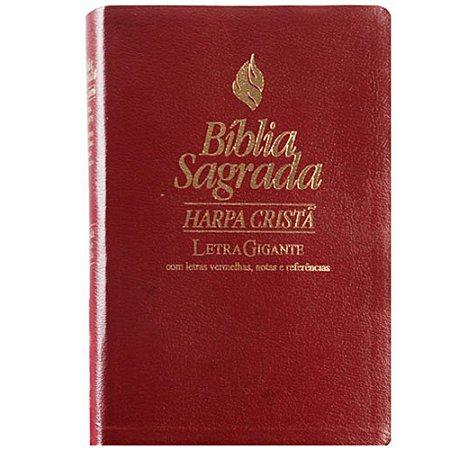 Bíblia com Harpa - Letra Gigante - Vinho